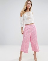 Traffic People Printed Culottes