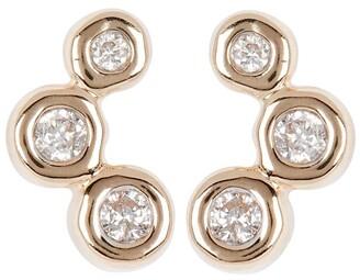Adina Reyter Diamond Barnacles Stud Earrings