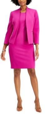 Le Suit Stretch Crepe Dress Suit
