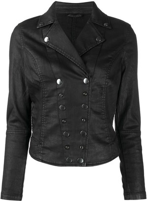 Diesel Fitted Cotton-Leather Jacket