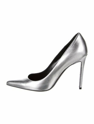 Barbara Bui Patent Leather Pumps Silver