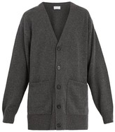 Raey Long-line Cashmere Cardigan - Mens - Charcoal