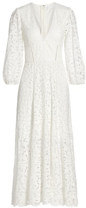 Jonathan Simkhai Puff-Sleeve Lace Midi Dress
