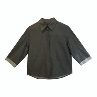 AV London - Crisp Cotton Shirt - Size 6 - Grey/Silver