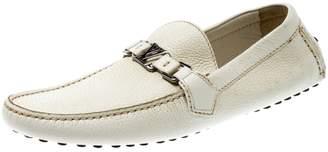Louis Vuitton Hockenheim White Leather Flats