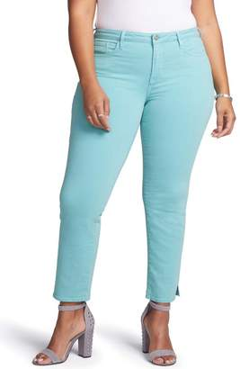 NYDJ CURVES 360 BY Slim Straight Leg Ankle Jeans (Regular, Petite & Plus Size)