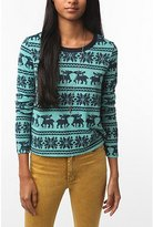 Staring at Stars Printed Holiday Pullover