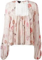 Giambattista Valli floral print chest panel blouse