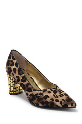 J. Renee Obelia Croc Embossed Block Heel - Wide Width Available