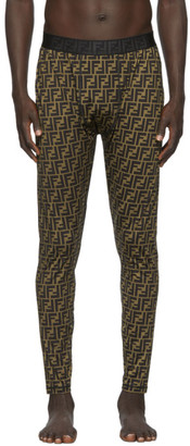 Fendi Black and Brown Forever Tights