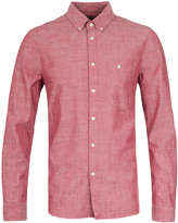 Nudie Jeans Stanley Red Chambray Shirt
