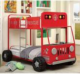 Hokku Designs Fire Engine Twin over Twin Bunk Bed