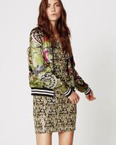Nicole Miller Falling Dragons Bomber Jacket