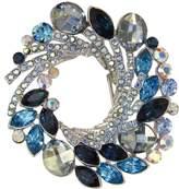 Krustallos Swarovski Crystal Brooch Storm Like Design