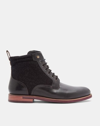 Ted Baker Leather Lace Up Ankle Boots