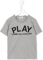 Comme Des Garçons Play Kids - logo print T-shirt - kids - Cotton - 6 yrs