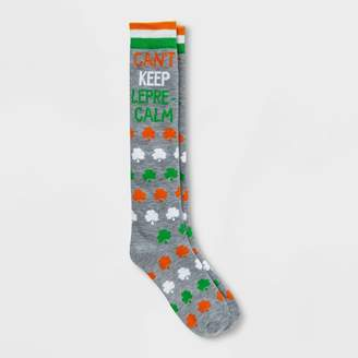 "Nobrand No Brand Women' ""Can't Keep Lepre-Calm"" t. Patrick' Day Knee High ock - Heather 4-10"