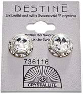 Crystallite Destine Crystal Rhinestone Rivoli Earrings 12mm