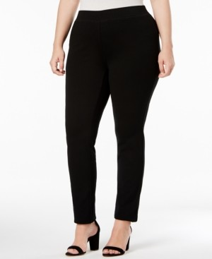 INC International Concepts Inc Plus Size Skinny Pull-On Ponte Pants, Created for Macy's