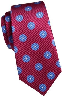 Kiton Large Dot Silk Tie