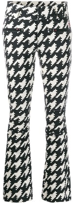 Perfect Moment Aurora houndstooth flared trousers
