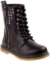 KensieGirl Black Studded Combat Boot
