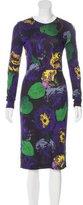 Erdem Floral Print Long Sleeve Dress