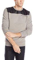 Buffalo David Bitton Men's Fizzat Long Sleeve Fleece with Vegan Shirt