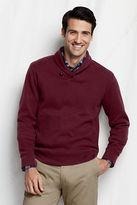 Lands' End Men's Regular Bedford Rib Shawl Collar Pullover