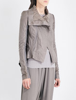 Rick Owens Biker-collar leather jacket