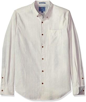 Lucky Brand Men's Casual Long Sleeve Stripe Bay Street Button Down Shirt