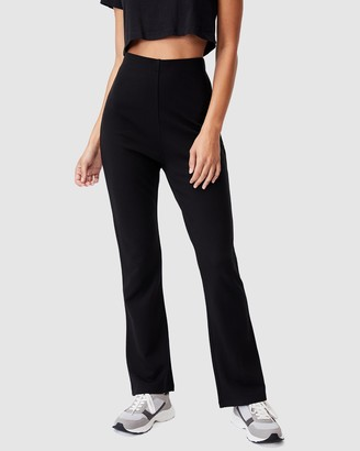 Cotton On Women's Black Pants - Havana Kick Flares - Size XS at The Iconic