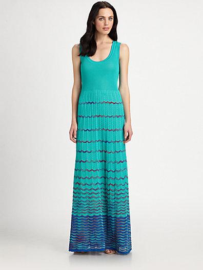 M Missoni Tank-Style Maxi Dress