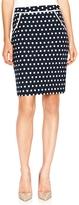The Limited Polka Dot Jacquard Pencil Skirt