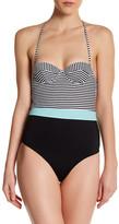 Topshop Halter One-Piece Swimsuit