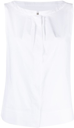 Odeeh Pleat-Detail Sleeveless Blouse