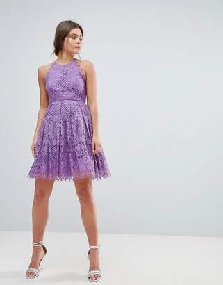 Asos Design Pinny Prom Mini Dress in Lace
