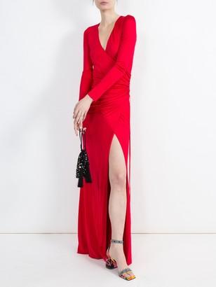 Galvan Allegra Ruched Waist Maxi Dress