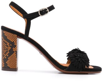 Chie Mihara Open Toe Snakeskin-Effect Sandals