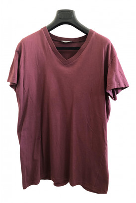 Christian Dior Burgundy Cotton T-shirts