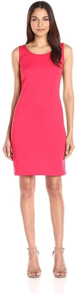 Nine West Women's Sleeveless Scoop Neck Sheath with Invisible Zipper at Back