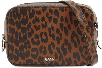 Ganni Printed Leather Camera Bag