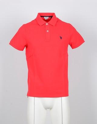 U.S. Polo Assn. Orange Cotton Men's Polo Shirt