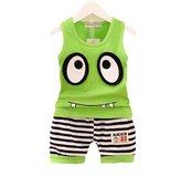Kmety children Clothing Kmety Baby boy girl summer fashion big eye T-shirt + shorts