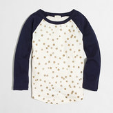 J.Crew Factory Girls' glitter stars baseball T-shirt