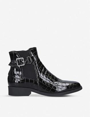 Carvela Comfort Rich crocodile-effect patent leather ankle boots