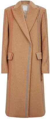 Sportmax Wool Stripe Overcoat