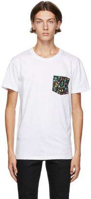 Naked and Famous Denim White Pastel Pocket T-Shirt