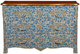 "French Heritage Malvaux 52"" Patterned Dresser - Blue/Gold"