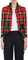 Kolor Women's Tech-Fabric-Trimmed Checked Wool Jacket